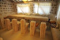 Hotel del sale per i turisti sugli appartamenti del sale di Uyuni Immagini Stock