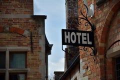 Hotel del segno Immagini Stock