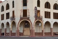 Hotel del Sol. Old Hotel del Sol in Yuma, Arizona stock image