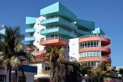 Hotel del sud di Miami della spiaggia Fotografia Stock Libera da Diritti