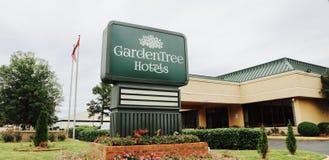 Hotel dell'albero del giardino Fotografia Stock