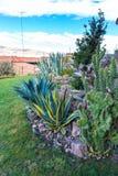 Hotel dell'alta società e cortile d'invito sul lago Titikaka, Perù nel Sudamerica Fotografie Stock Libere da Diritti