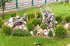 Hotel dell'alta società e cortile e giardino d'invito su Titikaka, Perù nel Sudamerica Fotografia Stock