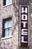 Hotel dell'annata fotografie stock libere da diritti