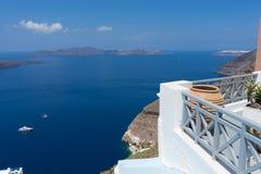 Hotel dell'isola di Santorini Fotografia Stock