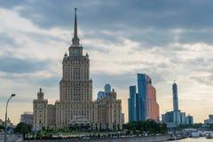 Hotel dell'Ucraina a Mosca immagini stock libere da diritti