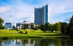 Hotel della Bielorussia a Minsk Fotografia Stock