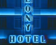 Hotel della colonia, Miami Beach, Florida Immagine Stock