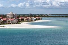 Hotel della linea costiera di Florida Fotografie Stock