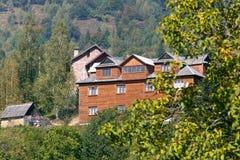 Hotel della montagna Fotografia Stock