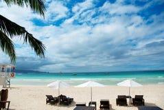 Hotel della spiaggia Immagine Stock