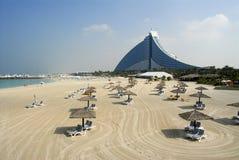 Hotel della spiaggia di Jumeirah Immagini Stock