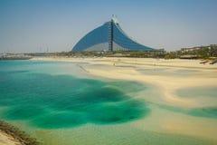 Hotel della spiaggia di Jumeirah, Doubai Fotografia Stock