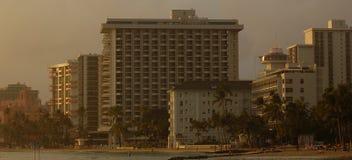 Hotel della spiaggia di Waikiki Immagini Stock