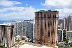 Hotel della spiaggia di Waikiki, Oahu, Hawai Immagini Stock