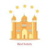 Hotel delle migliori un concetto indiano di cinque stelle illustrazione vettoriale