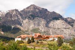 Hotel in den Bergen Stockfotografie