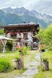 Hotel in den französischen Alpen Lizenzfreie Stockbilder