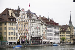 Hotel in der Luzerne, die Schweiz Lizenzfreies Stockfoto