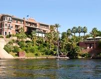 Hotel des 19. Jahrhunderts in Aswan, Ägypten Lizenzfreie Stockfotografie