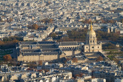 Hotel Des Invalides from Above, Paris Royalty Free Stock Photo