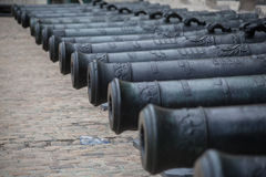 Hotel des Invalides Cannons Paris France Stock Photos