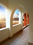 Hotel in desert Stock Images
