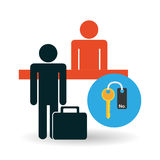 Hotel design. service icon. travel concept Royalty Free Stock Image