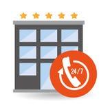 Hotel design. service icon. travel concept Stock Image