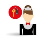 Hotel design. service icon. travel concept Stock Photography