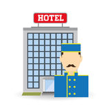 Hotel design. service icon. travel concept Royalty Free Stock Photography