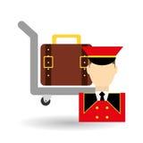 Hotel design. service icon. travel concept Stock Photo