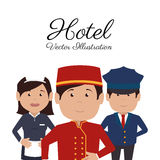 Hotel design, vector illustration. Royalty Free Stock Image