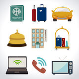 Hotel design, vector illustration. Stock Photo