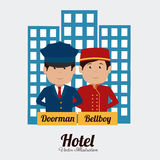 Hotel design, vector illustration. Royalty Free Stock Images
