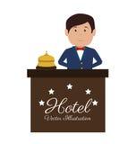 Hotel design, vector illustration. Stock Images