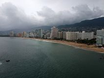 Hotel di Acapulco in Max Hurricane Fotografie Stock