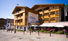 Hotel di Alpe di Siusi Europa Fotografie Stock Libere da Diritti