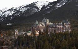 Hotel di Banff, Ablerta Fotografia Stock