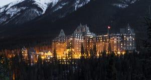 Hotel di Banff Farmount, Canada Immagini Stock Libere da Diritti