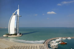 Hotel di Burj Al Arab Fotografia Stock