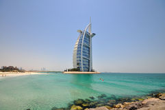 Hotel di Burj Al Arab nel Dubai Immagini Stock Libere da Diritti