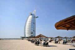 Hotel di Burj Al Arab nel Dubai Immagine Stock