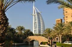 Hotel di Burj Al Arab nel Dubai Fotografie Stock Libere da Diritti