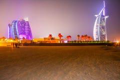 Hotel di Burj Al Arabe nel Dubai Immagini Stock Libere da Diritti
