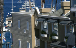 Hotel di Contempory con la vista di oceano Fotografia Stock