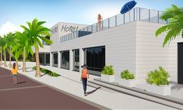 Hotel di Dalmation Riviera Fotografia Stock