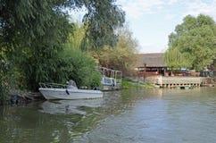 Hotel di delta di Sulina Danubio immagine stock libera da diritti