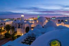 Hotel di Hurghada alla notte Immagine Stock Libera da Diritti