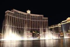 Hotel di Las Vegas Bellagio di notte Fotografia Stock